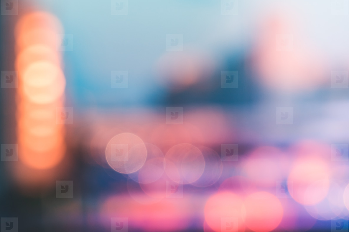 Colorful blurred cityscape  Abstract background