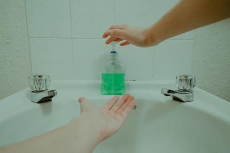 Hands and soap