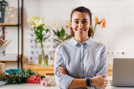 Portrait of a confident florist