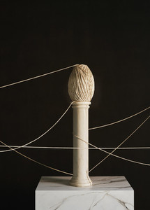Abstract twine on small pedestal
