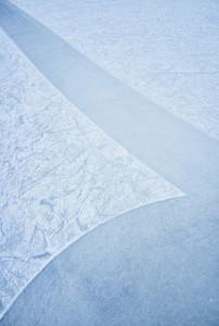 Pattern in blue ice rink