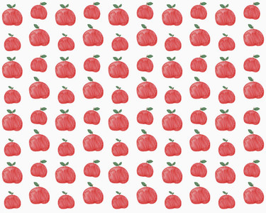 Illustration of red apples on white background
