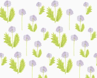 Illustration of dandelions on white background