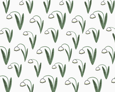 Illustration of daffodils on white background