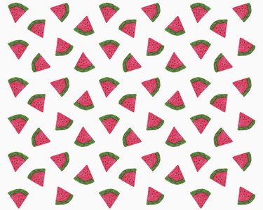 Illustration of watermelon slices on white background