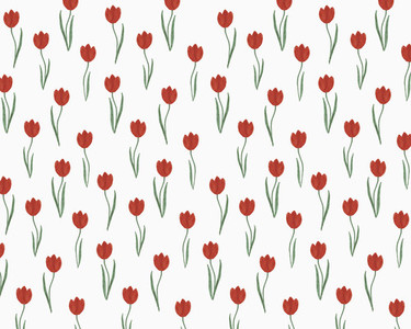 Illustration of red tulips on white background