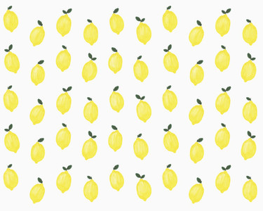 Illustration of yellow lemons on white background