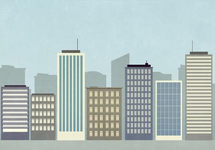 Cityscape of skyscraper buildings