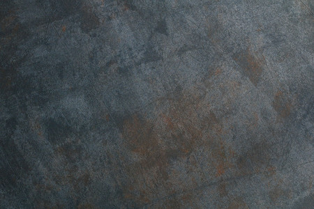 The steel textured background with rust