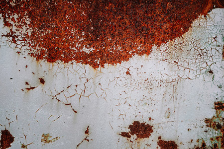Rusty texture with cracked paint