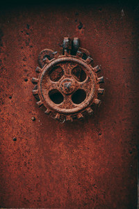 Details of an old metalic industry equipment