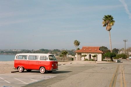 VW Van at a State Park in So Cal
