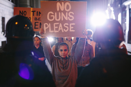 Activists protesting for gun control