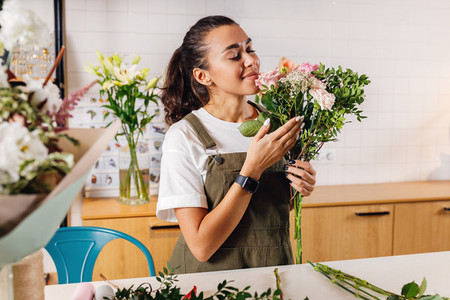 Beautiful florist woman