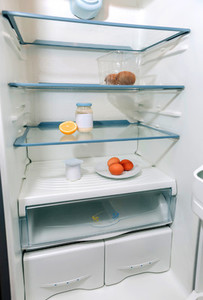 Fridge almost empty due a crisis