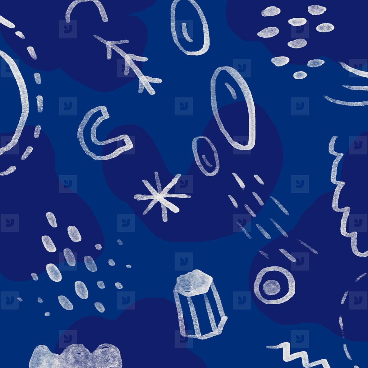 Hand drawn seamless pattern 06