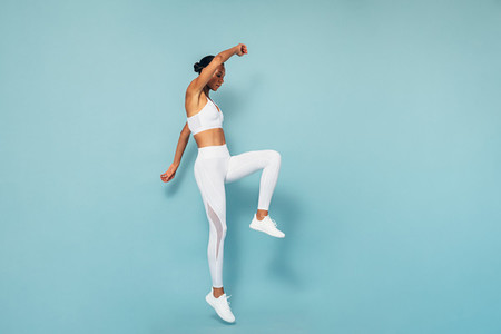 Sports woman jumping