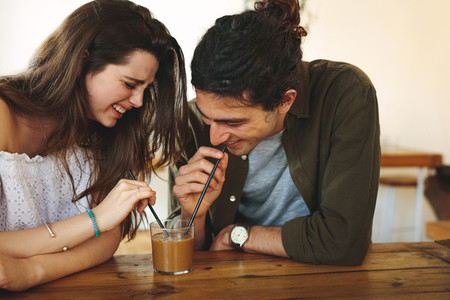 Lovers having a coffee