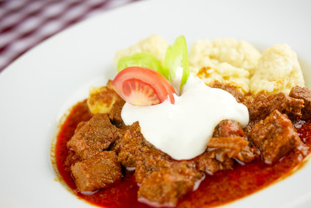 Beef dish in a restaurant