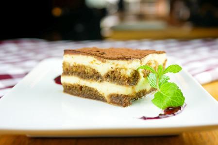 Cake on a restaurant table