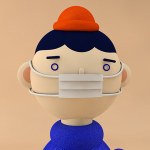 boy character with mask
