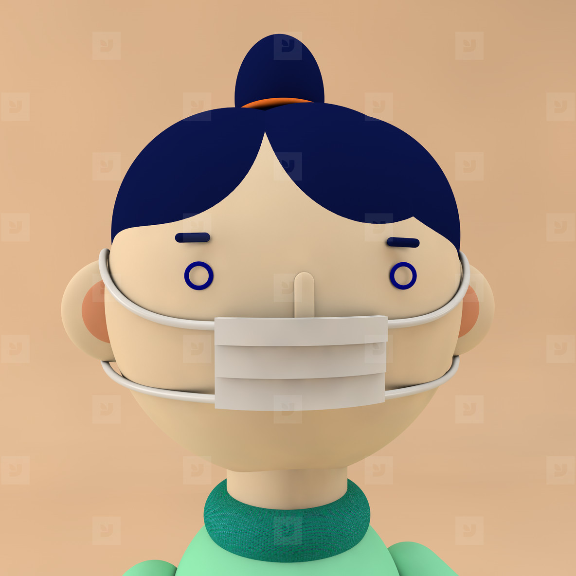 girl character with mask