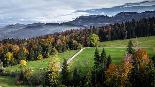 Switzerland aerial View