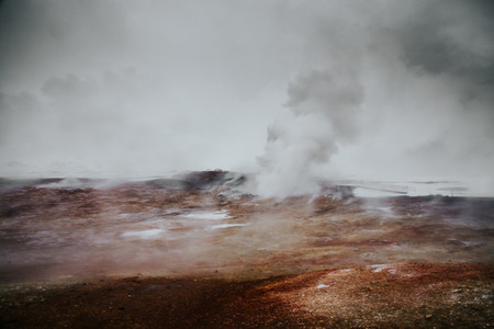 Gunnuhver Hot Springs Iceland