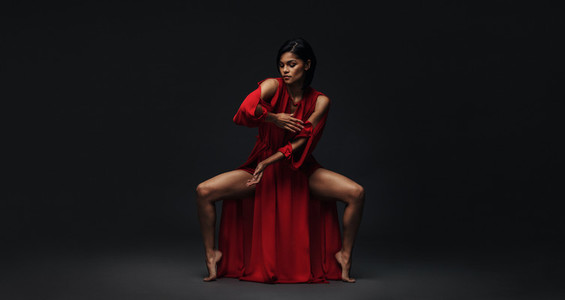 Dancer performing contemporary dance style