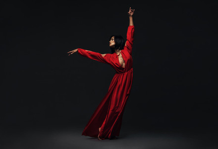 Woman performing beautiful dance moves