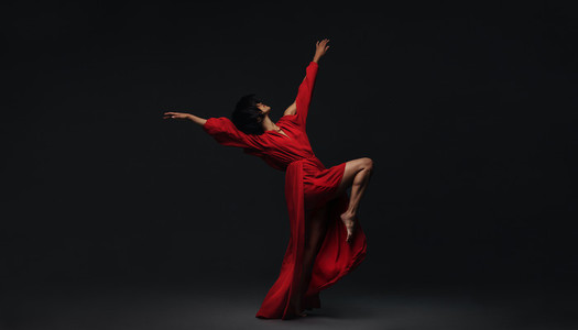 Female dancer performing contemporary dance style