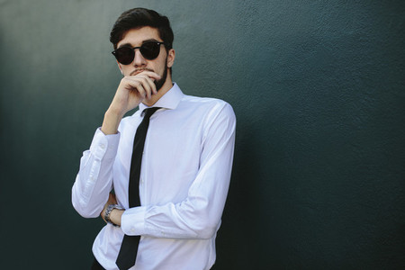 Smartly dressed young businessman
