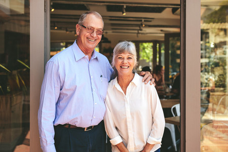 Senior couple running their own small business