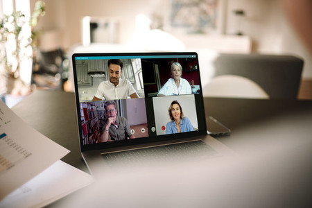 Online meeting via video conference call