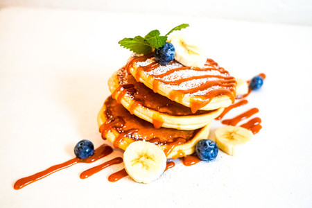 Pancake on a restaurant table