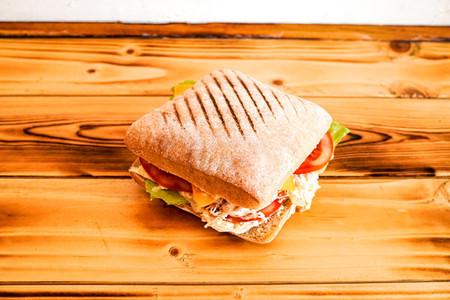 Sandwich on a restaurant table