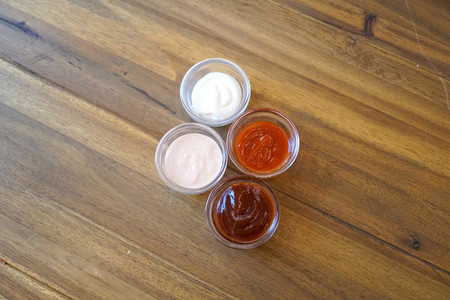 Sauce on a restaurant table
