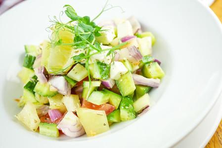 Salad on a restaurant table