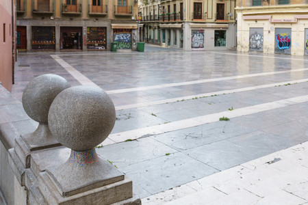 GRANADA  SPAIN  23RD APRIL  2020 View of the Pasiegas Square empty of people