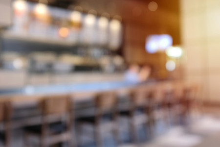 Abstract blur background of hipster cafe or restaurant interior