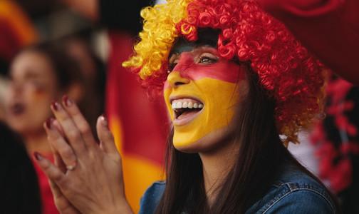 Female from Germany in fan zone