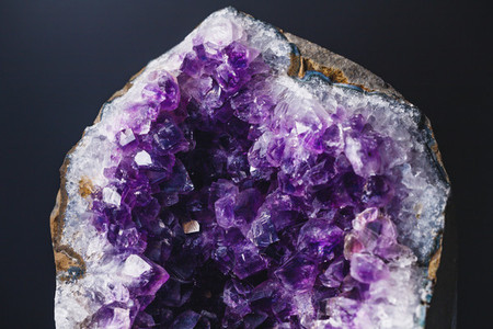 Macro photography of amethyst druzy stone