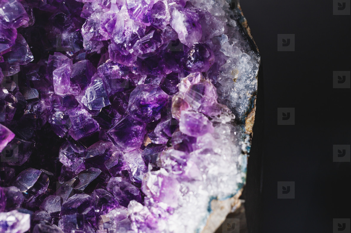 Macro photography of amethyst druzy stone