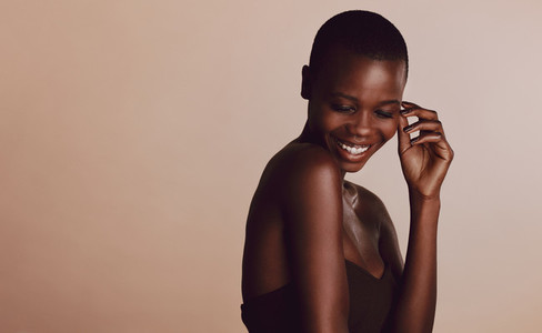 African female model posing in studio