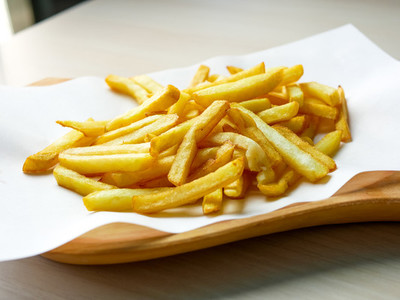 French fries on a restaurant table