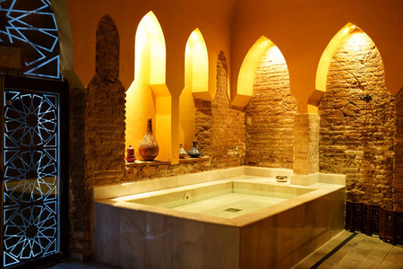 Arabic baths Hammam in Granada  Andalusia  Spain