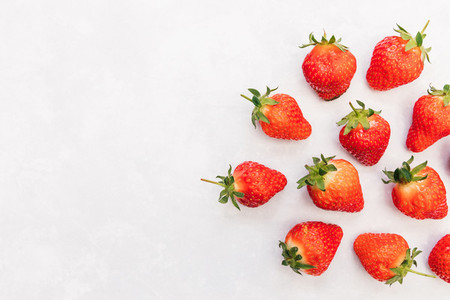 Strawberries white background