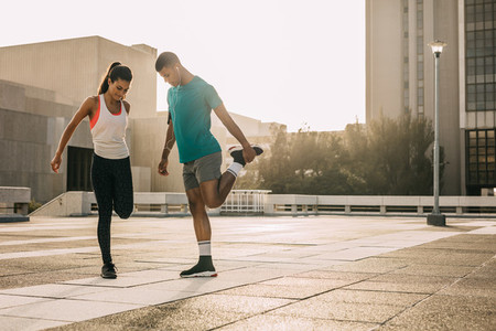 Stretch before you run