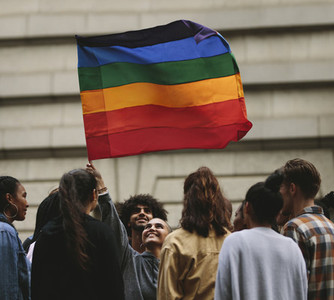 Gay pride parade and celebrations in the city