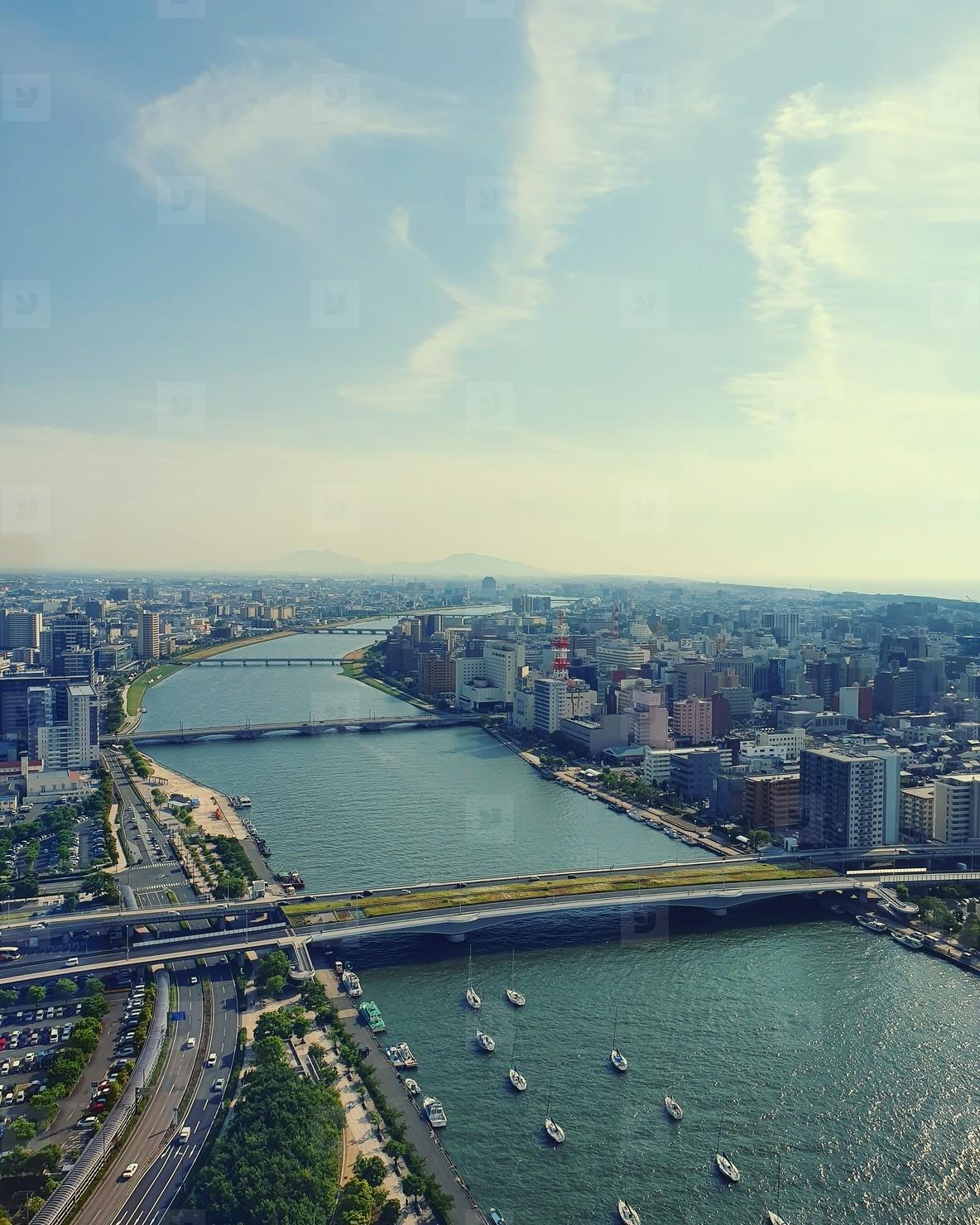 Aerial cityscape